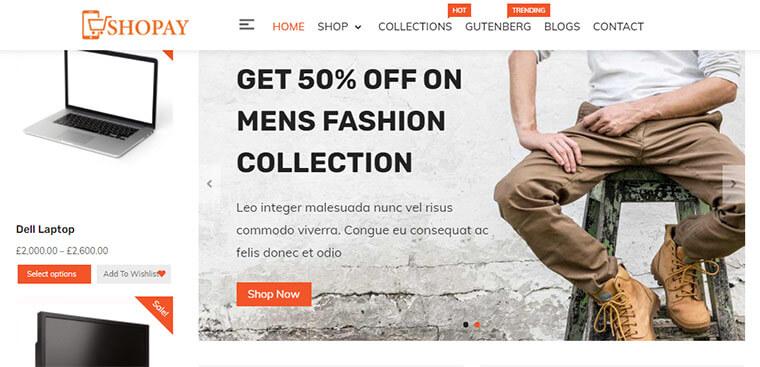 Shopay WordPress Theme for Online Shops