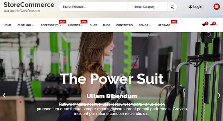 eCommerce WordPress Theme StoreCommerce