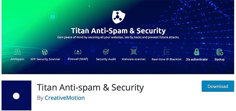 Titan Anti-spam & Security plugin