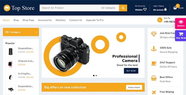 WordPress eCommerce Theme Top Store