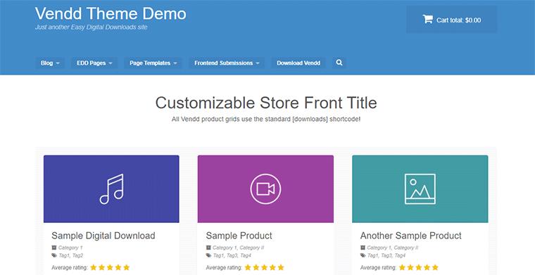 Vendd WordPress Theme for Easy Digital Downloads