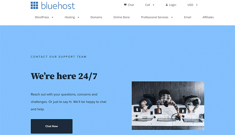 Bluehost Contact Support