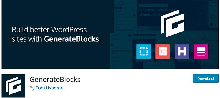 GenerateBlocks WordPress Gutenberg blocks plugin