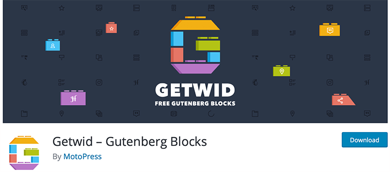 Getwid WordPress Gutenberg blocks plugin