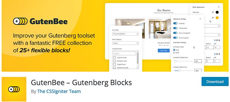 GutenBee WordPress Gutenberg blocks plugin