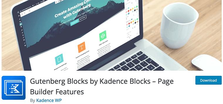 Kadence Blocks WordPress Gutenberg blocks plugin