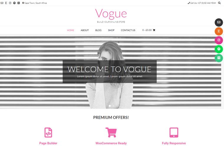 Vogue Easy-to-use WordPress Theme