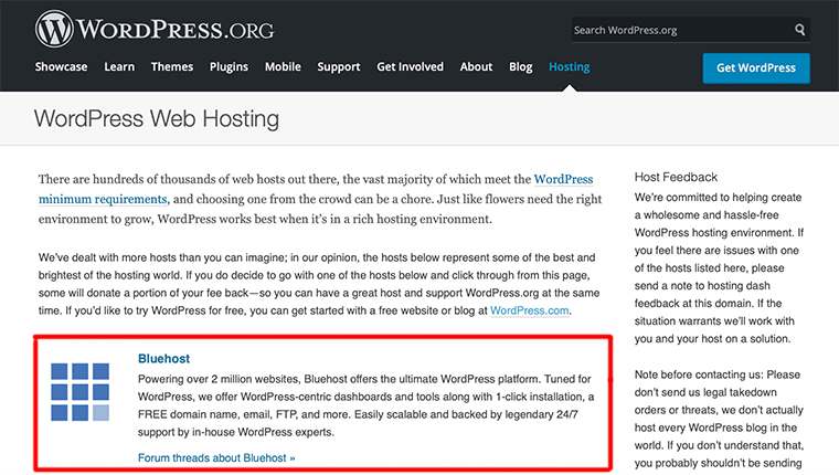 Bluehost: WordPress Recommended Hosting Provider