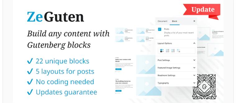 ZeGuten WordPress Gutenberg blocks plugin