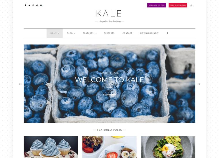 Kale Food WordPress Theme