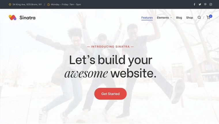 Sinatra Free WordPress Theme