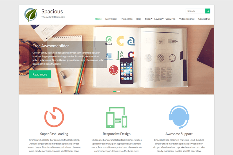 Spacious Multipurpose WordPress Theme