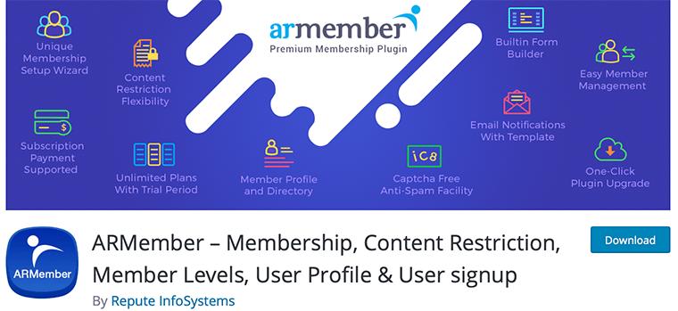 ARMember - Free WordPress Membership Plugin