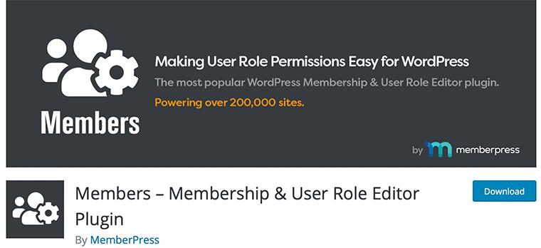 Members - Free WordPress Membership Plugin