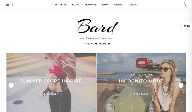 Bard Free WordPress Blog Theme