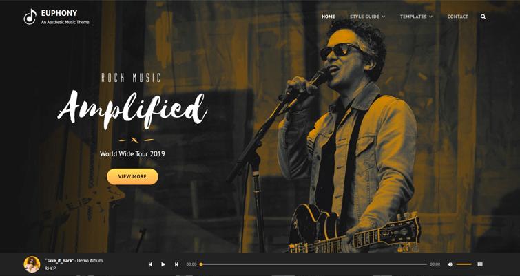 Euphony Free WordPress Music Theme