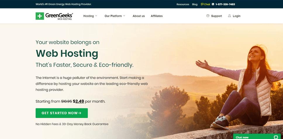 GreenGeeks Eco-friendly Website Hosting
