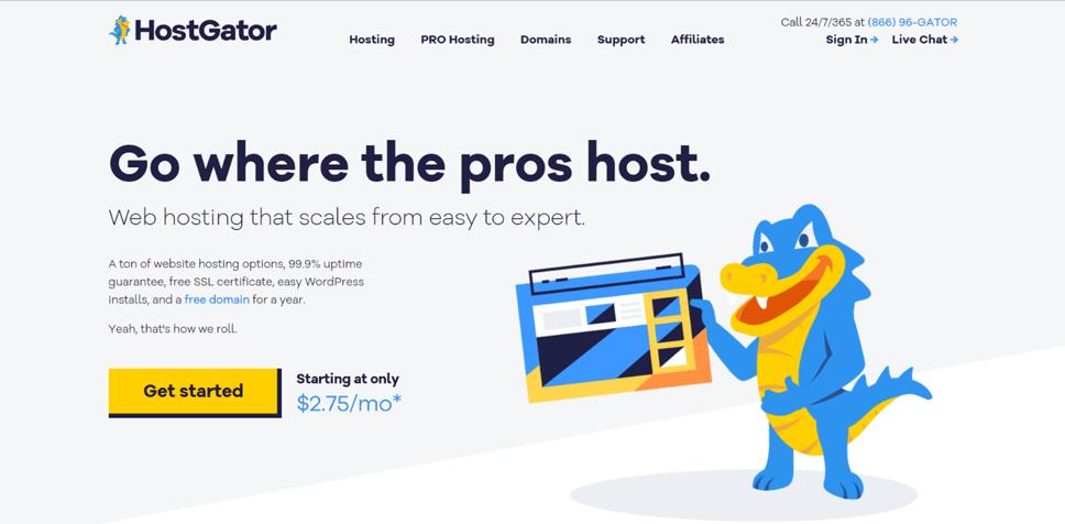 Trusted Web Hosting Company HostGator