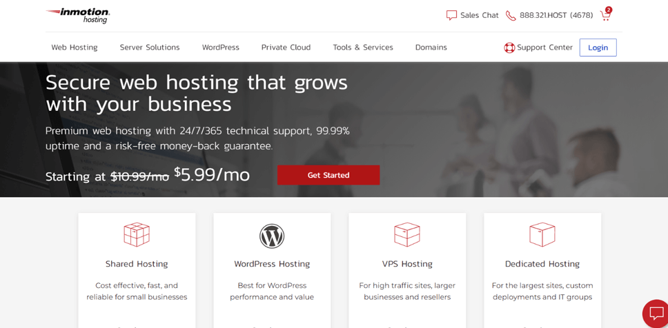 IinMotion Hosting for Your Website