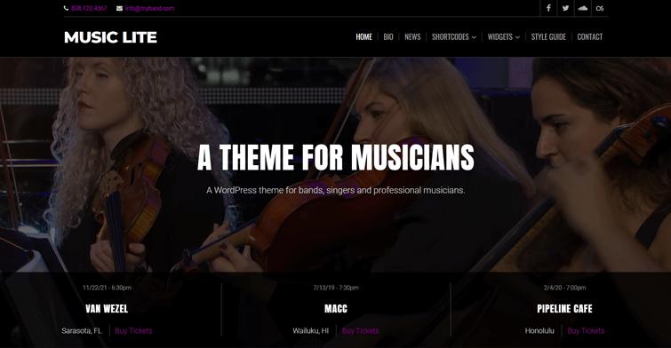 Music Lite WordPress Theme Free