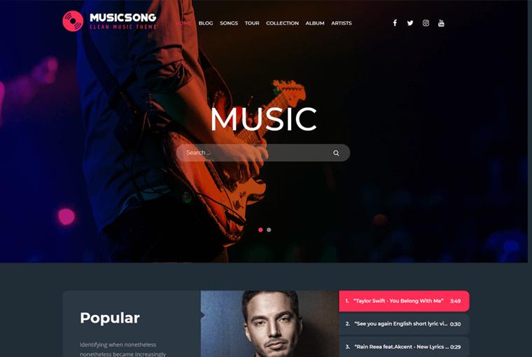 Musicsong WordPress Theme