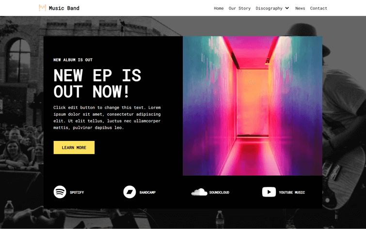 Neve WordPress Theme for Music Sites