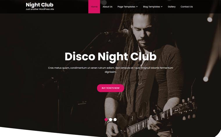 Night Club Lite WordPress Template