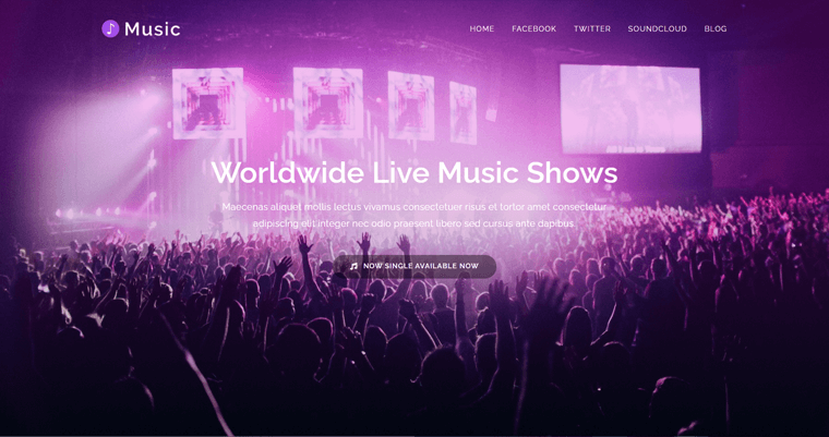 OceanWP theme for Live Music Shows