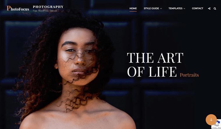 PhotoFocus WordPress Theme for Photographer Freelancers