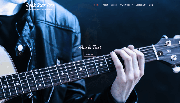Rock Star WordPress Theme