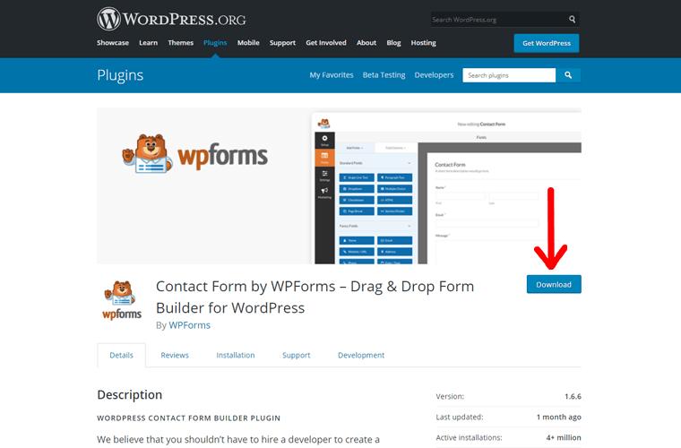 WPForms WordPress Plugin for Download