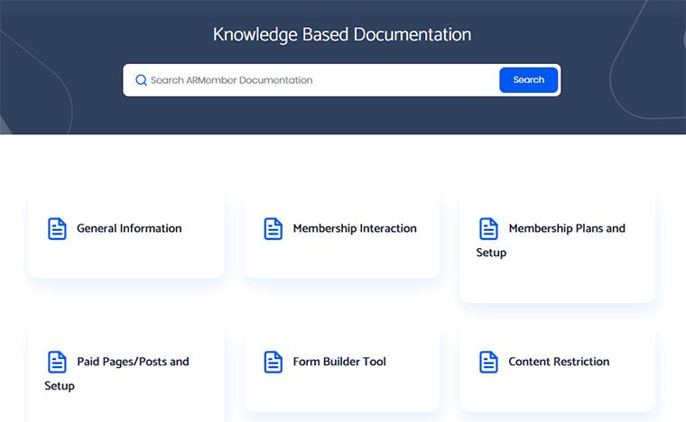 ARMember Knowledge Based Documentation