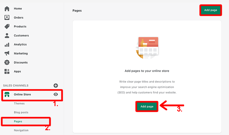 Add Pages to Your Store