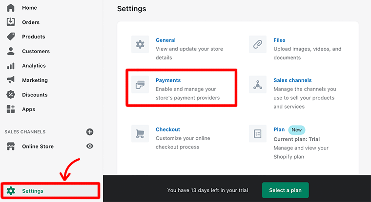Add Payments Option
