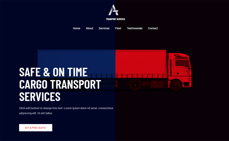 Astra-TransportServices- One Page WordPress Theme