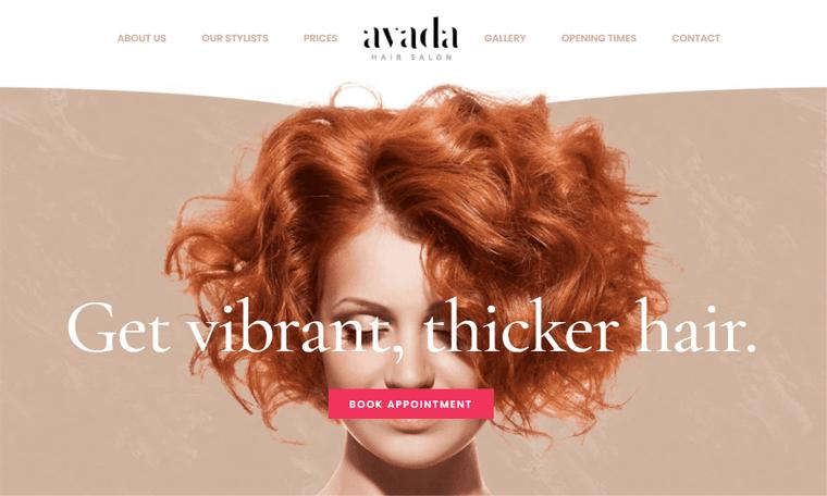 Avada-SalonWebsite-One Page Scrolling Website