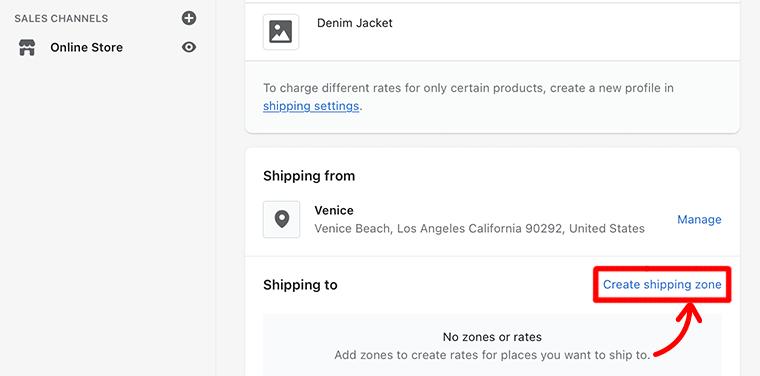 Create Shipping Zone