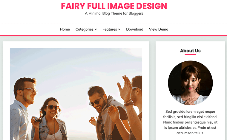 Fairy - Best Free SEO Optimized WordPress Theme