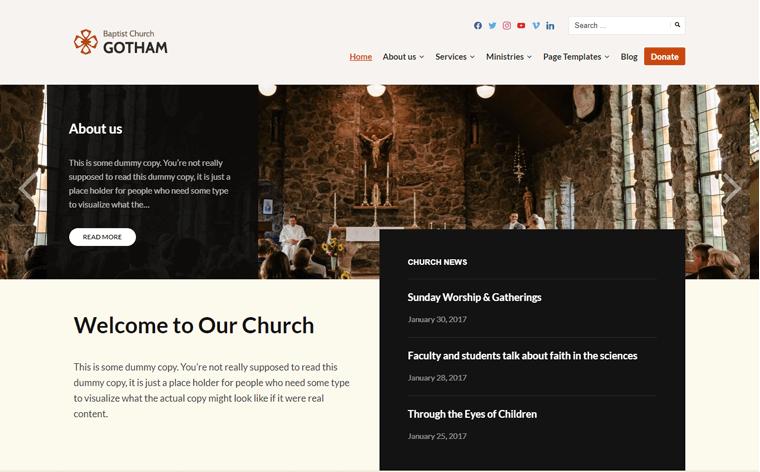 Faith Church WordPress Theme