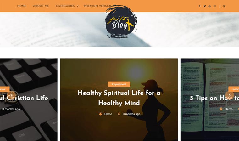 Faith Blog Free WordPress Theme