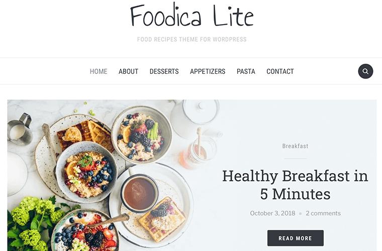 Foodica - Best Free SEO Optimized WordPress Theme