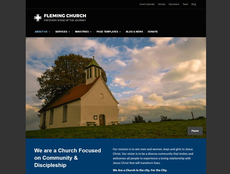 Milton Lite Free Church WordPress Theme