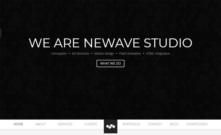 Newave WordPress One Page Theme