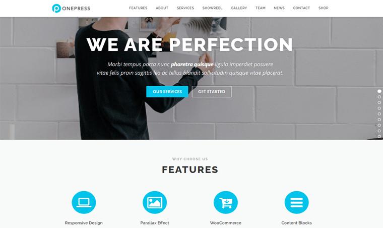 OnePress-free single page WordPress Themes