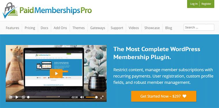Paid Membership Pro WordPress Membership Plugin