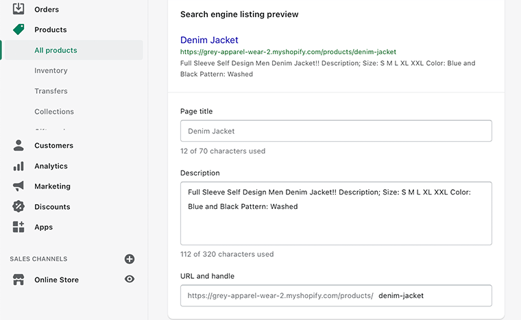 SEO Listing Preview