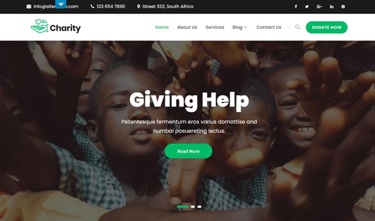SKT Charity Free WordPress Theme
