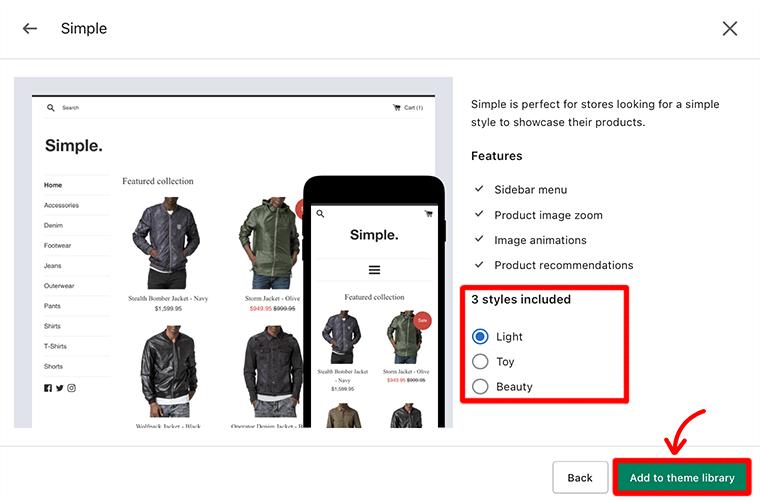 Select Theme Style