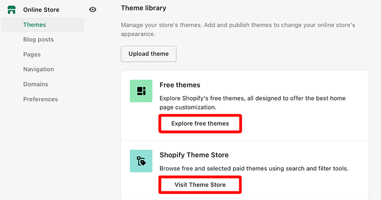 Theme Library Section