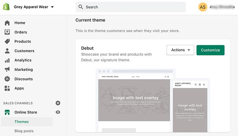 Theme Page Settings